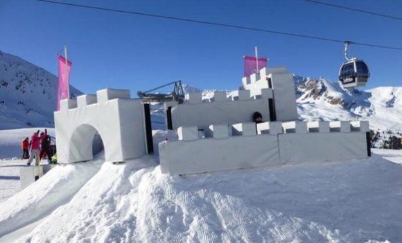 Château de neige à Valfréjus