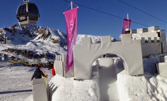 Jeux de neige enfants à Valfréjus